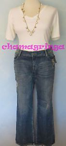 Sexy Lane Bryant Seven 7 Luxe Deconstructed Designer Glitter Jeans Size 18   eBay