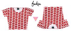 Catalogo S/S 2015 FAKIU CLOTHES TOP CROP  BOKITAS  MODAL ESTAMPADO  TALLE UNICO