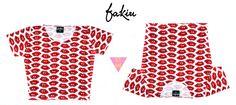 Catalogo S/S 2015 FAKIU CLOTHES TOP CROP  BOKITAS  MODAL ESTAMPADO  TALLE UNICO