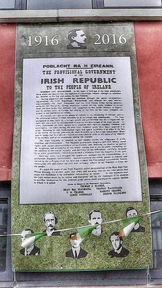 1916-2016 banner on a community centre, Long Mile Road, Dublin.