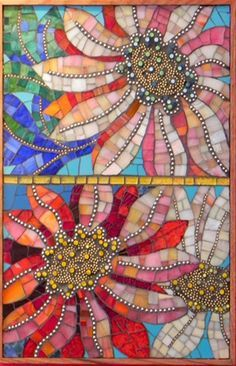 Flower Dance by Patricia Ormsby Maplestone Gallery Contemporary Mosaic Art Stone Mosaic, Mosaic Glass, Mosaic Tiles, Mosaics, Tiling, Mosaic Crafts, Mosaic Projects, Art Projects, Mosaic Designs