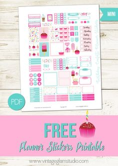 Birthday Confetti Planner Stickers   Free for personal use only
