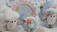 Família Ovelha de tecido - Infinita Arte for Baby