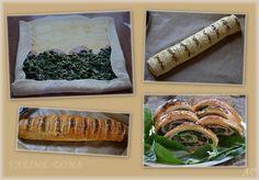 Závin se špenátem a medvědím česnekem - koláž