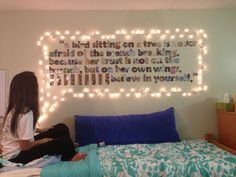 With paper tape instead of wall decals. Would be so cute! I would love to be able to cover the whole wall in awesome quotes. Could change them up on occasion