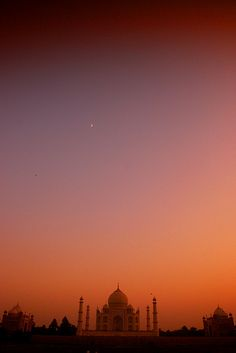 Taj Mahal sunset, India