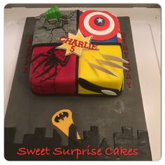 superheld torte hero cake spider man spiderman hulk marvel. Black Bedroom Furniture Sets. Home Design Ideas