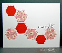 More hexagons to love (with faux stitching)