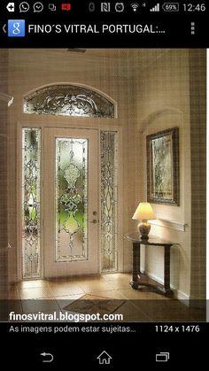 Porta vitral clássico Beveled glass door