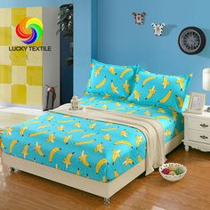 LUCKY TEXTILE 3pcs/set bed sheet set Microfibe bed sheet queen mattress cover solid bed clothes Banana bed cover with rubber Price: USD 32.54 | United States
