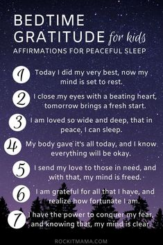 Looking to ease bedtime struggles? Check out these bedtime affirmations for kids to soothe sleep anxiety and encourage healthy sleeping habits! Positive Affirmations For Kids, Daily Affirmations, Positive Discipline, Kids Discipline, Quotes Positive, Positive Mindset, Parenting Advice, Kids And Parenting, Peaceful Parenting
