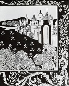"""""""How Queen Guenever rode on Maying II"""", by Aubrey Beardsley"""