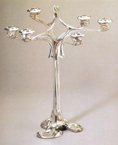 Henry van de Velde, Candlestick, 1898-99
