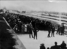 Birkenau, Poland, SS soldiers performing a selection. Separated by men on one side and women and children on the other. This is the last few hours of most of their lives Never Again, World History, World War Two, Wwii, Vintage Photos, Germany, Krakow, Storyboard, Shapes