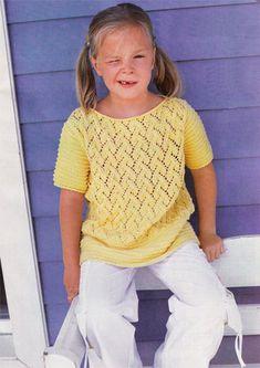 Модели для девочек, связанные спицами. Вязаная одежда для любого времени года. Описания, схемы, фотографии