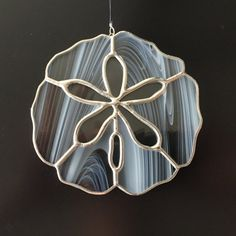 Stained Glass Sand Dollar Suncatcher by FoxStainedGlass on Etsy