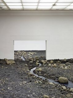 Olafur Eliasson's powerful installation tests both viewer and venue... http://www.we-heart.com/2014/08/28/olafur-eliasson-riverbed-at-louisiana-museum-of-modern-art/
