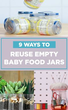 Don't throw out your baby food jars!