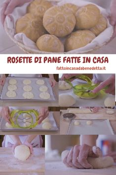 Homemade bread rosettes from Benedetta, how to make bread at home with an easy recipe. Artisan Bread Recipes, Easy Bread, Homemade Pasta, Zucchini Bread, Rosettes, Biscotti, Finger Foods, Easy Meals, Food And Drink