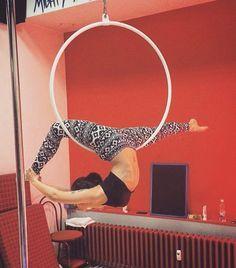 First try of rainbow marchenko on hoop... It will happen soon! . #poledance…