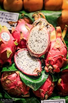 dragon fruit, La Boqueria, Barcelona, Spain
