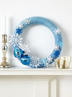Winter Wonderland could make a red one with red yarn and red and white ornaments would make a great gift
