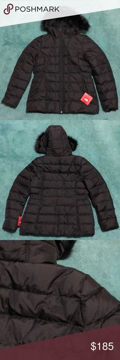 The North Face Women Gotham Down Jacket Brand new; black down jacket. The hood is not removable but the faux fur part is. If you search for this style online, you will come across this exact style on Zappos, where you will see more pictures and reviews. (My mother bought this impulsively and it's passed return date now.) The North Face Jackets & Coats