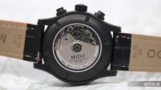 Mido Multifort Chronograph PVD Special Edition (caseback). #mido #watchtime #chronograph #caseback