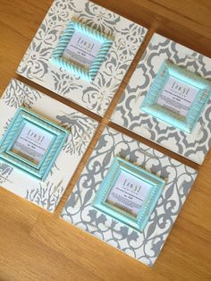 Gray frames wall gallery turquoise frames beach by Decoupage, Cardboard Picture Frames, Coral Design, Beach Frame, Wall Hanger, How To Raise Money, Decoration, Painting Frames, Frames On Wall