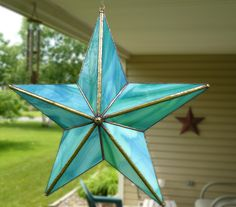 Turquoise Barn Star from colorandlightglas...