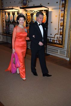 King Carl Gustaf's Birthday celebrations - Gala Dinner at the Royal Palace Queen Silvia and President Niinistö Princess Victoria Of Sweden, Crown Princess Victoria, King Birthday, 70th Birthday, Swedish Royalty, English Royalty, Queen Of Sweden, Sweden Fashion, Royal Crowns