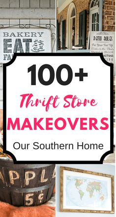 Over 100 thrift store makeovers for the home from the Thrift Store Makeover Team! #thriftstore #thriftstoremakeovers #thriftstoredecor #homedecor #thriftydecor