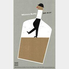 """Mistero Buffo Poster"" | http://spurdesign.com"