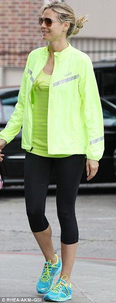 Heidi Klum rocking sportswear.