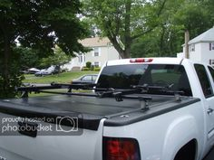 New Way To Carry Bikes/skis/etc Above The Bed Toyota Tundra Accessories, Truck Bike Rack, Thule Bike, 2013 Silverado, Truck Bed Covers, Racking System, Gm Trucks, Truck Accessories, Sports Equipment