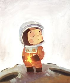 Not the style for drawing , but thought this was cute! Girl Astronaut by Ciaran Niña astronauta por Ciaran Astronaut Drawing, Astronaut Illustration, Children's Book Illustration, Character Illustration, Character Art, Character Design, Astronauts In Space, Concept Art, Drawings