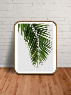 Printable Women Gift Wall Art Palm Palm Leaf by paperpixelprints