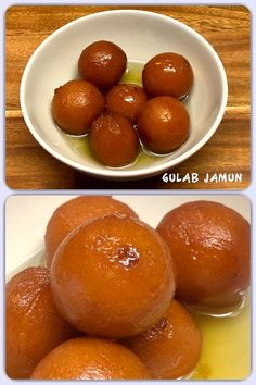 Gulab jamun (also spelled gulaab jamun) is a berry-sized ball dipped/soaked in rose flavoured sugar syrup. It is made mainly from milk solids, traditionally from Khoa, which is milk reduced to the consistency of a soft dough. Vegetarian Desserts, Gulab Jamun, Indian Sweets, Homemade Recipe, Consistency, Pretzel Bites, Syrup, Indian Food Recipes, Berry