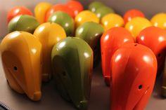 A herd of plastic Luigi Colani elephants!!