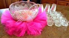 Baby Shower Ideas for Girls On a Budget - love the tutu around the punch bowl!