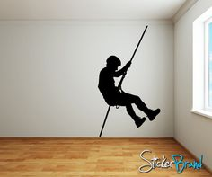Vinyl Wall Decal Extreme Cliff Climber #768