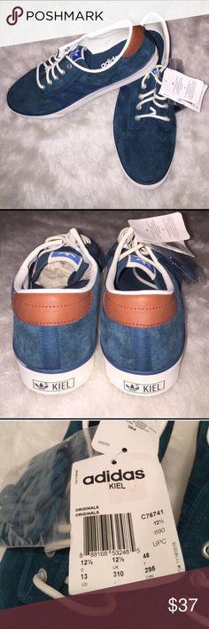 NEW Adidas Kiel suede blue Brand-new Adidas Kiel blue suede men's size 13 Adidas Shoes Sneakers