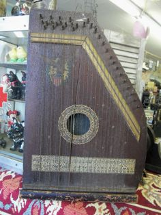 Shabby Antique Victorian Autoharp from by rustysecrets on Etsy, $45.00