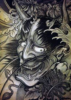 Japanese Hannya Tattoos: Origins, Meanings & Ideas Hannya masks, a fearsome symbol in Japanese tattoo culture. Learn of their intriguing history and significance. Browse unique hannya tattoo designs for inspiration. Japanese Mask Tattoo, Japanese Tattoo Designs, Japanese Sleeve Tattoos, Best Sleeve Tattoos, Japanese Hannya Mask, Hannya Maske Tattoo, Oni Mask Tattoo, Tattoo Mascara, Japan Tattoo Design