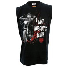 The Walking Dead Daryl I Ain't Nobody's Bitch Adult Sleeveless Tank T-Shirt Things I Need To Buy, Stuff To Buy, Muscle Shirts, Stuff And Thangs, Budget Fashion, The Walking Dead, Sportswear, My Style, Mens Tops