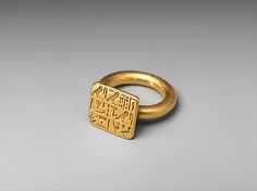 Ring of Priest Sienamun Period: Late Period Dynasty: Dynasty 26 Date: 664–525 B.C. Geography: From Egypt Medium: Gold