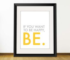 Be Happy Digital Printable Typography Art for Posters by misterio, $3.95