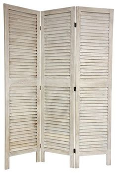 6 ft. Tall Classic Louvered Slat Venetian Room Divider - mediterranean - screens and wall dividers - - by The Room Divider Store