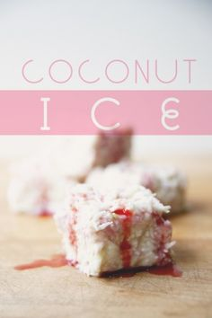 Coconut Ice - real strawberries and lime in the ingredients