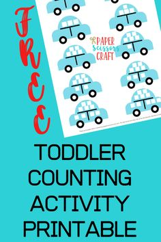 Toddler Counting Activity Printable The perfect activity for your little […] Counting For Toddlers, Math Activities For Toddlers, Spelling Activities, Counting Activities, Easy Toddler Crafts, Kids Crafts, Teaching, Scissors, Printables